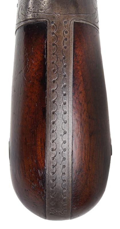 Allen & Wheelock Pepperbox, Fluted Barrels, Nipple Shield, Engraved Worcester, Massachusetts, grip