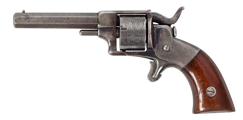 Model Allen & Wheelock Side Hammer Revolver, Third Issue, Cased, left facing