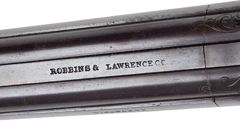 Robbins and Lawrence Revolving Hammer Pepperbox, Windsor, Vermont Ring Trigger, Concealed Hammer, Serial number: 3488, Silver Plated, Engraved Likely NEW OLD STOCK, a FINE Example, address 1