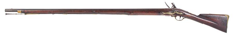 First Model Brown Bess, Pattern 1756 Long Land Musket, Original Flint, left facing