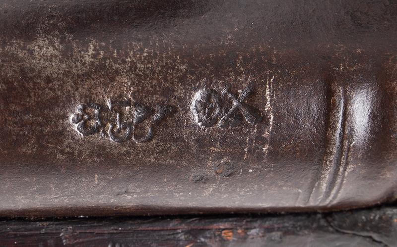 First Model Brown Bess, Pattern 1756 Long Land Musket, Original Flint, marks view