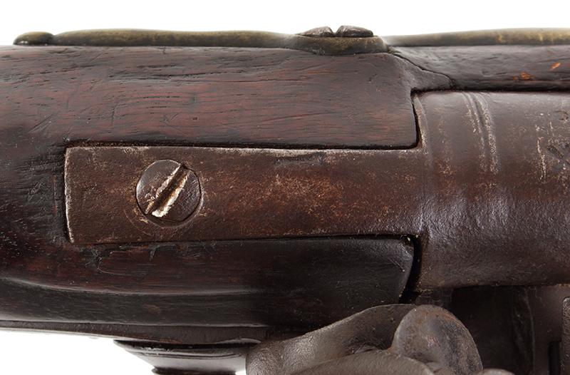 First Model Brown Bess, Pattern 1756 Long Land Musket, Original Flint, tang