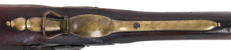 First Model Brown Bess, Pattern 1756 Long Land Musket, Original Flint, trigger guard