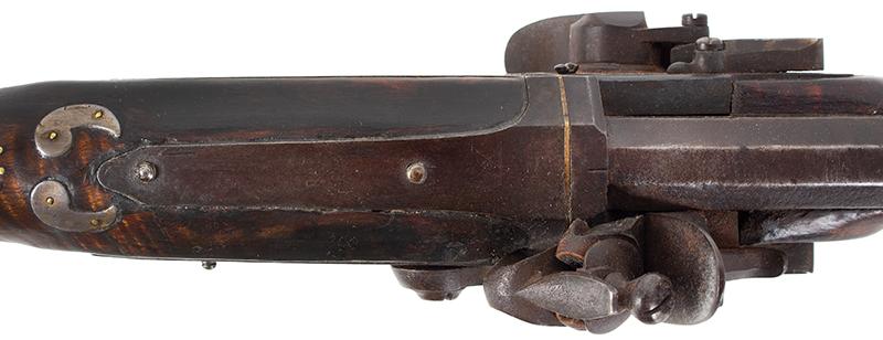 A Fine Berks County Swivel Breech Flintlock Rifle Attributed to Adam Angstadt           Berks County, Pennsylvania, tang