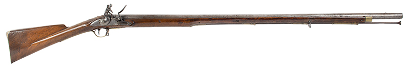 18th Century British Commercial Musket, Military Style Flintlock, Ketland & Co.  Brown Bess Flintlock Musket with Historic ''York Volunteer'' Inscription Birmingham, England Stock stamped: YC 167 for York Castle Armory or York Militia, right facing
