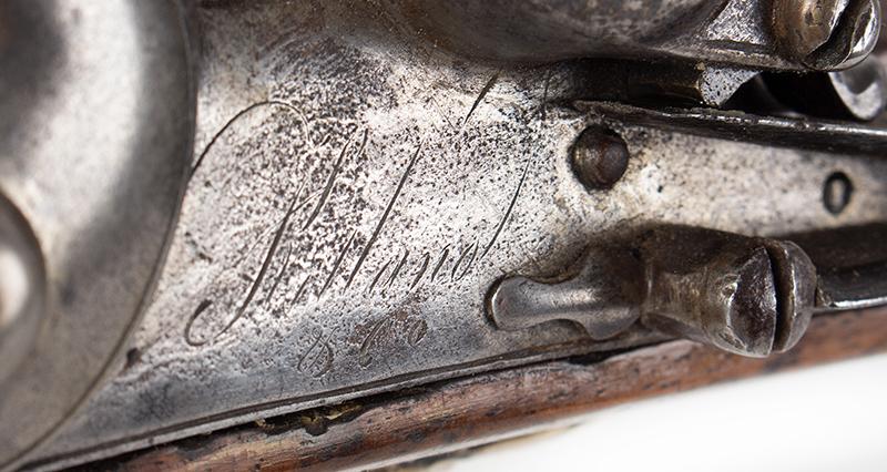 18th Century British Commercial Musket, Military Style Flintlock, Ketland & Co.  Brown Bess Flintlock Musket with Historic ''York Volunteer'' Inscription Birmingham, England Stock stamped: YC 167 for York Castle Armory or York Militia, ketland