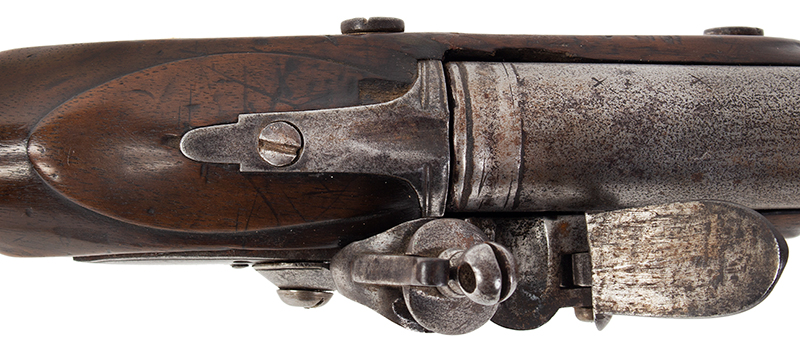 18th Century British Commercial Musket, Military Style Flintlock, Ketland & Co.  Brown Bess Flintlock Musket with Historic ''York Volunteer'' Inscription Birmingham, England Stock stamped: YC 167 for York Castle Armory or York Militia, tang