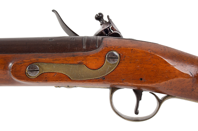 Circa 1800 Cadet's Musket after the Brown Bess, with Bayonet English, Unmarked, circa 1800, side plate