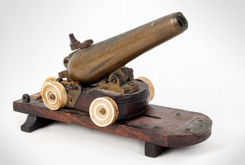 Circa 1850 Percussion Cap Signal Cannon, Toy? Unknown Maker, entire view 1