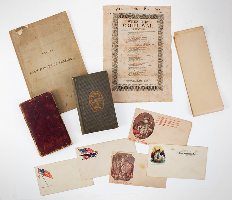 Civil War: Ephemera. Several Items, vignette