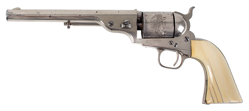 Colt Model 1871-72 Open Top Revolver, Exceptional .44-Caliber RF, Serial #1309 All Matching, facing left