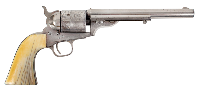 Colt Model 1871-72 Open Top Revolver, Exceptional .44-Caliber RF, Serial #1309 All Matching, facing right