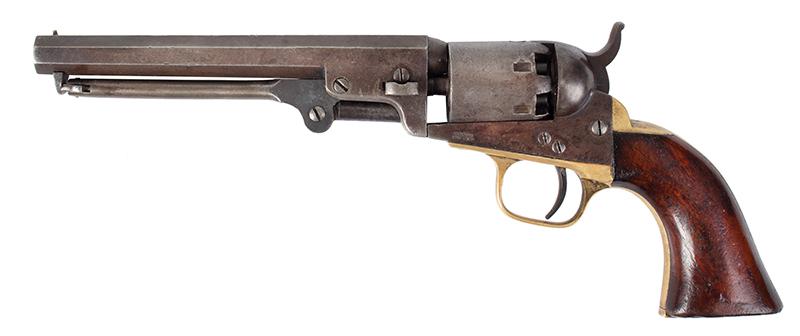 Colt Model 1849 Pocket Revolver  All matching serial numbers: 30341, left facing