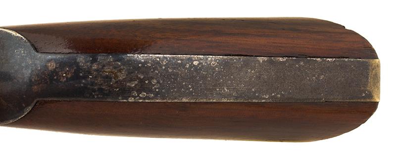 Revolver, Colt 1849 Pocket Model, Wells Fargo Serial Number 147170, 31 Caliber, 3 Inch Barrel Marked: ADDRESS SAML Colt / New York City The Cylinder Marked: US PATENT / 147170, back strap