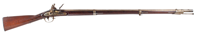 US Model 1816 flintlock musket by Asa Waters with New Hampshire Surcharge, right facing