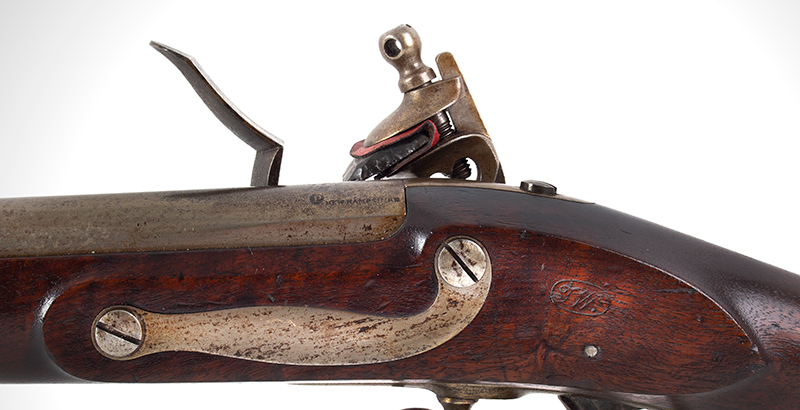 US Model 1816 flintlock musket by Asa Waters with New Hampshire Surcharge, side plate
