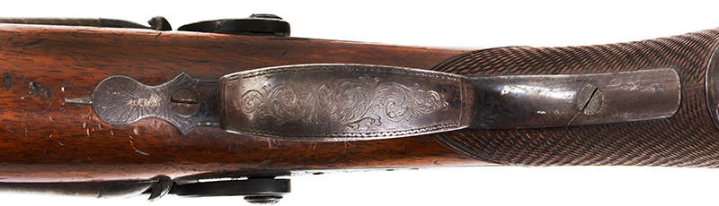 Antique Double Barrel Howdah Percussion Pistol by Frederick Barnes, London Mid-19th Century, Overall length: 11.25''; barrel length: 5'', .65 Caliber Smoothbore, trigger guard