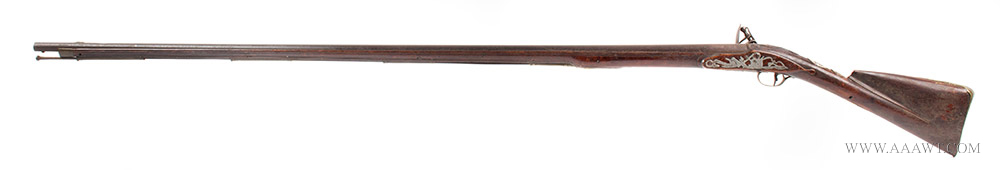 Musket, Smooth Bore, Fowler, Bayonet Lug, New England, 18th Century Possibly Worcester County, Massachusetts, left facing