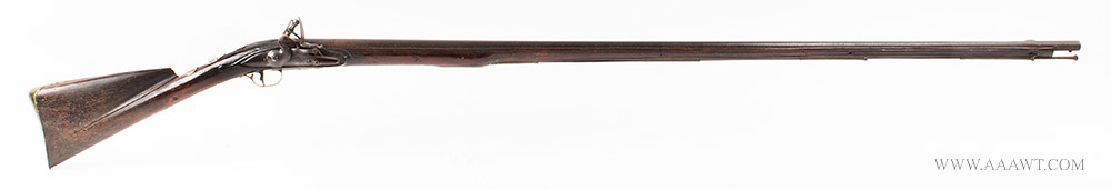 Musket, Smooth Bore, Fowler, Bayonet Lug, New England, 18th Century Possibly Worcester County, Massachusetts, right facing