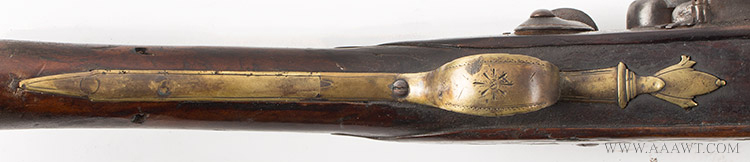Musket, Smooth Bore, Fowler, Bayonet Lug, New England, 18th Century Possibly Worcester County, Massachusetts, trigger guard