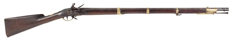 Brown Bess, Cadet Musket with Bayonet Dutch, circa 1800-1810 .60-Caliber, right facing