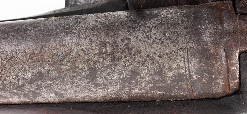Brown Bess, Cadet Musket with Bayonet Dutch, circa 1800-1810 .60-Caliber, marks detail