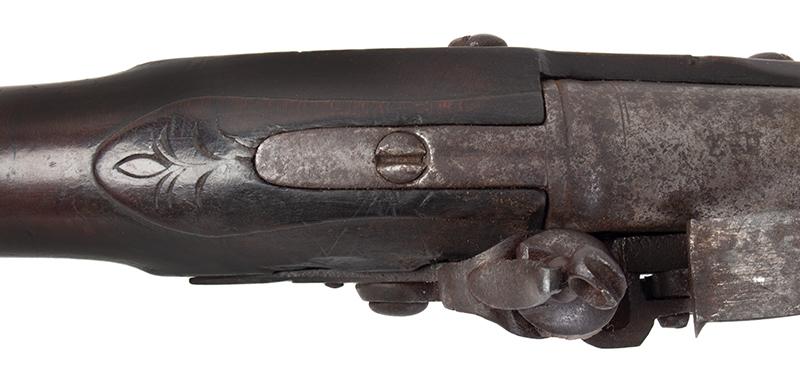 Brown Bess, Cadet Musket with Bayonet Dutch, circa 1800-1810 .60-Caliber, tang