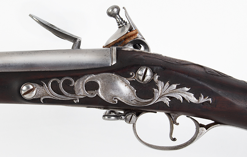 18th Century Flintlock Musket, Exceptional, Lightweight, Edward Newton Edward Newton (1692-1764) Grantham, London, circa 1730, side plate