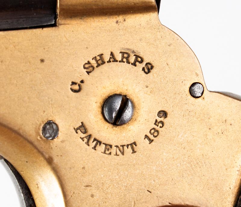 Antique, Sharps Breech-Loading 4-Shot Pepperbox Pistol, Philadelphia, 1859-1874, detail view 1