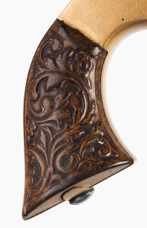 Antique, Sharps Breech-Loading 4-Shot Pepperbox Pistol, Philadelphia, 1859-1874, detail view 3