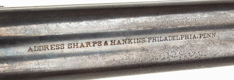 Antique, Sharps & Hankins Breechloading Four-Shot Pepperbox, Model 3B 3.5-inch barrel in .32-caliber rimfire, address