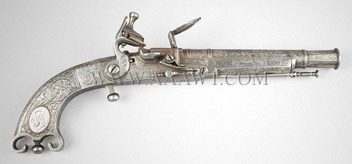scottish all steel flintlock belt pistol by john campbell  f766