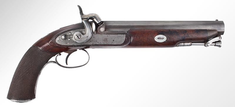 Howdah Pistol, John Lacy, Gunmaker to East India Company, Circa 1830s, right facing