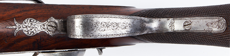 Howdah Pistol, John Lacy, Gunmaker to East India Company, Circa 1830s, trigger guard