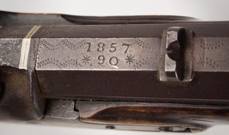 Antique Kentucky Pistol, Lock by Armstrong of Philadelphia, year