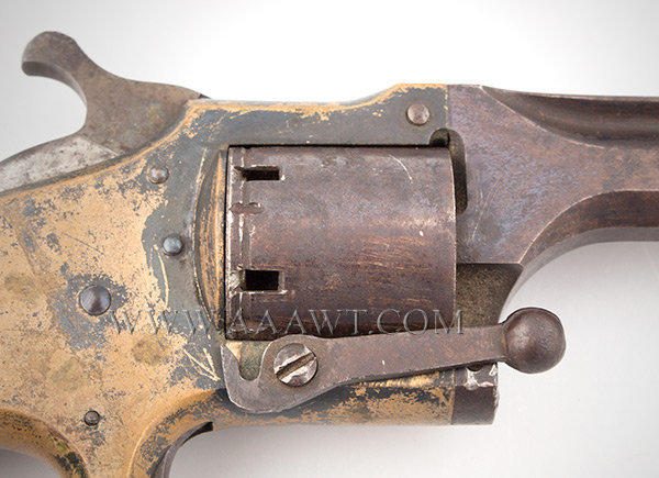 Connecticut Arms Pocket Front Loading Revolver, .28 Caliber Cup Primed, detail