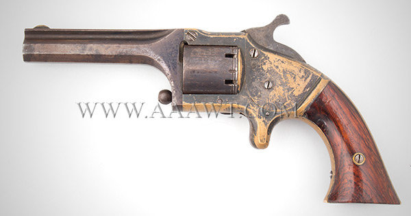 Connecticut Arms Pocket Front Loading Revolver, .28 Caliber Cup Primed, left facing