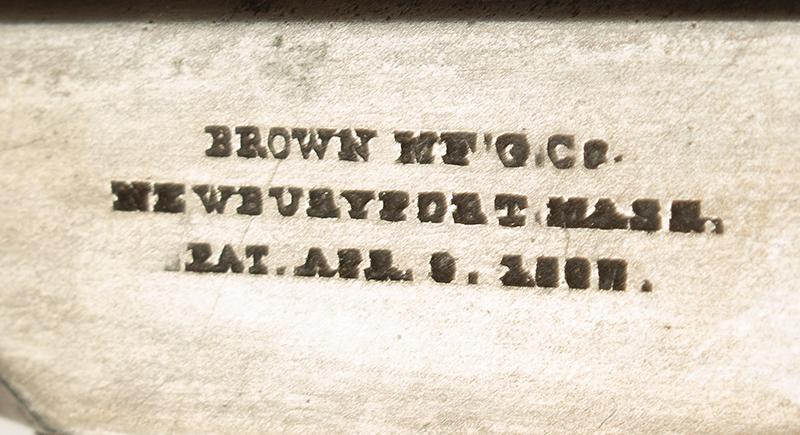 Southerner Derringer, Brown Manufacturing Co., Newburyport, Massachusetts Made 1869-1873 Single shot 2.5-inch .41-caliber rimfire Derringer; serial number 8031, address