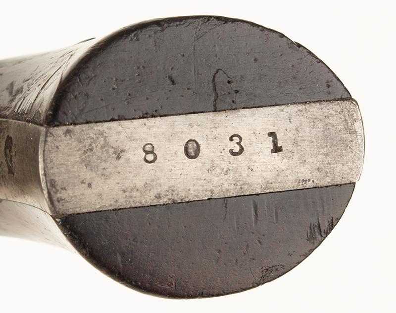 Southerner Derringer, Brown Manufacturing Co., Newburyport, Massachusetts Made 1869-1873 Single shot 2.5-inch .41-caliber rimfire Derringer; serial number 8031, serial no