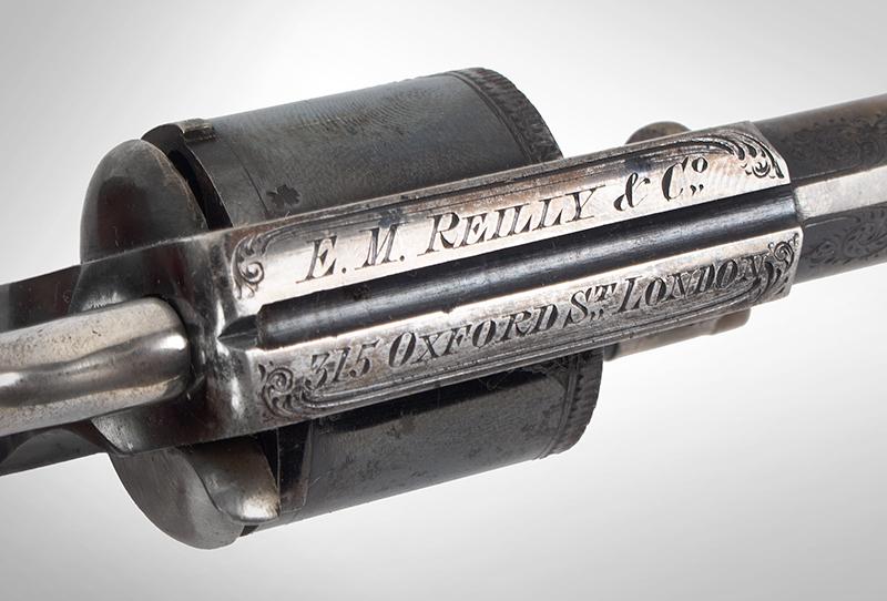 Cased & Dealer Marked London Webley & Scott Engraved Pocket Pistol .32 Caliber, 2.5-inch Barrel, Serial Number: 2776, E.M. Reilly & Co., address detail