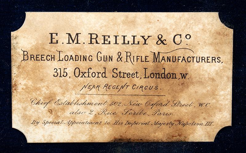 Cased & Dealer Marked London Webley & Scott Engraved Pocket Pistol .32 Caliber, 2.5-inch Barrel, Serial Number: 2776, E.M. Reilly & Co., label