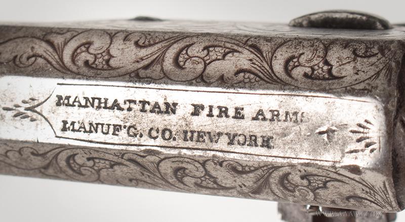 Manhattan Pocket Model Percussion Revolver, Series I, Serial Number 69, address