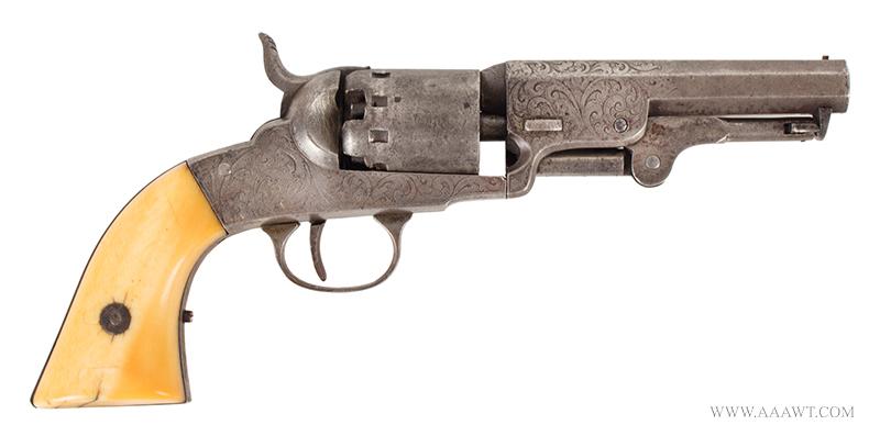 Manhattan Pocket Model Percussion Revolver, Series I, Serial Number 69, right facing