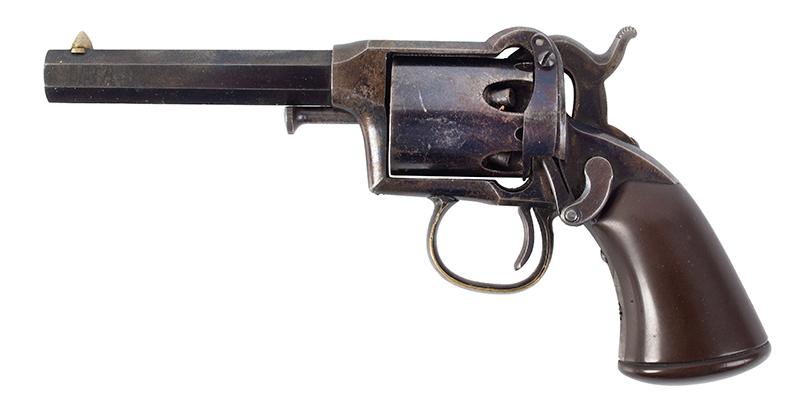 Remington Beals 1st Model Pocket Revolver, Original Factory Box 3-Inch .31 Caliber Octagon Barrel, 5 Shot Round Cylinder, Serial Number: 176 Wonderful Set, Missing Nothing, In Old Collection For 40/50-Years, left facing