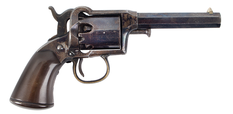 Remington Beals 1st Model Pocket Revolver, Original Factory Box 3-Inch .31 Caliber Octagon Barrel, 5 Shot Round Cylinder, Serial Number: 176 Wonderful Set, Missing Nothing, In Old Collection For 40/50-Years, right facing