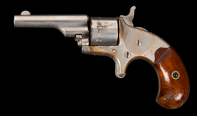 Colt Old Model, Open Top Frame, .22 Caliber Revolver Colt's PT.F.A. MFG. Co. Hartford CT USA (Top of Barrel) Serial Number 25110, all matching, left facing