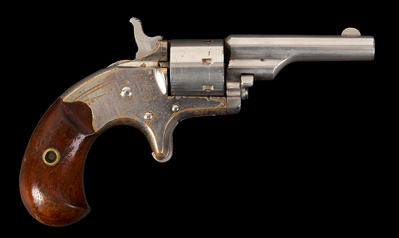 Colt Old Model, Open Top Frame, .22 Caliber Revolver Colt's PT.F.A. MFG. Co. Hartford CT USA (Top of Barrel) Serial Number 25110, all matching, right facing