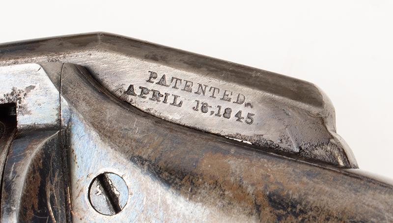 Allen & Wheelock Side Hammer Revolver, 3rd Type Standard Marking: Allen & Wheelock.Worcester. MS. US– Allen's Pats.  Sept.7. Nov.9. 1858., patent detail