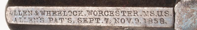 Allen & Wheelock Side Hammer Revolver, 3rd Type, address