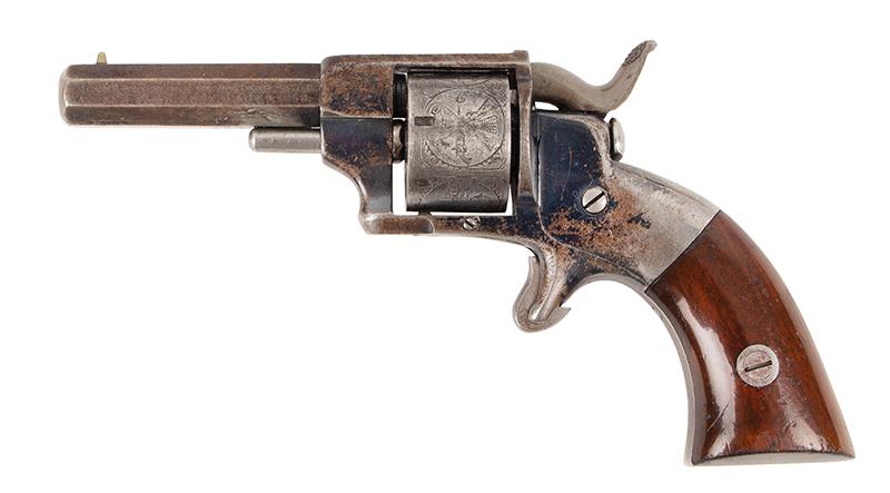Allen & Wheelock Side Hammer Revolver, 3rd Type, left facing